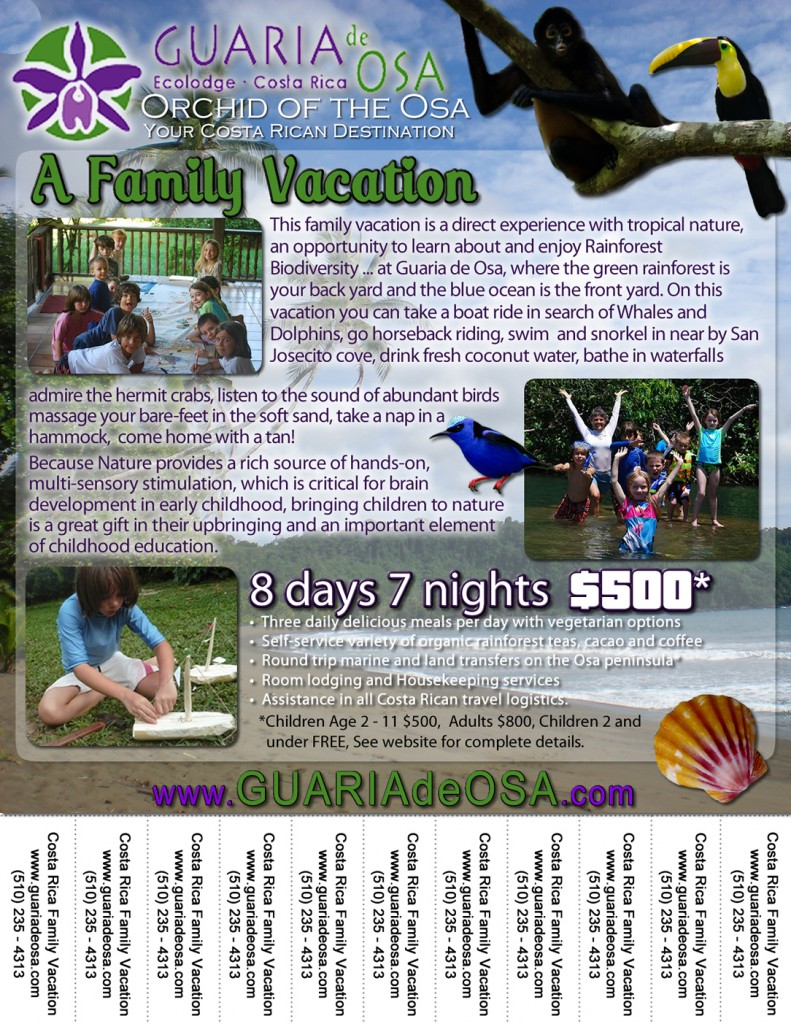 Family Vacation Event Flyer